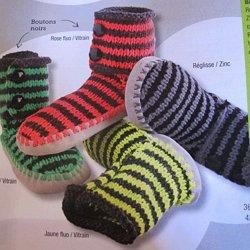modele tricot pour pantoufle